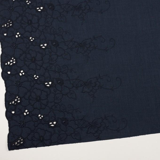 ポリエステル×フラワー(ネイビー)×かわり織刺繍 イメージ2