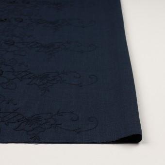 ポリエステル×フラワー(ネイビー)×かわり織刺繍 サムネイル3