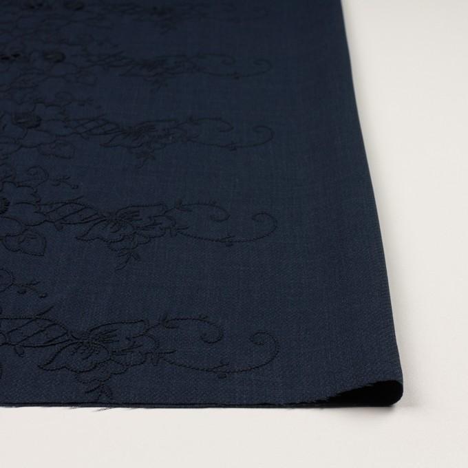 ポリエステル×フラワー(ネイビー)×かわり織刺繍 イメージ3