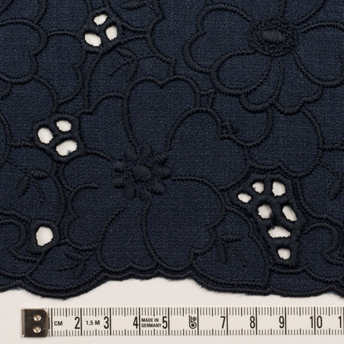 ポリエステル×フラワー(ネイビー)×かわり織刺繍 イメージ4