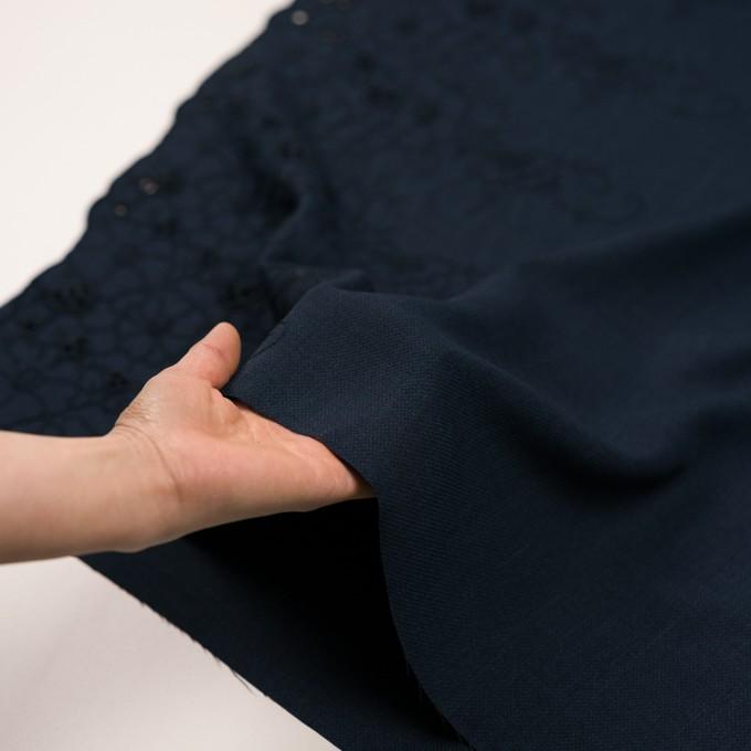 ポリエステル×フラワー(ネイビー)×かわり織刺繍 イメージ5