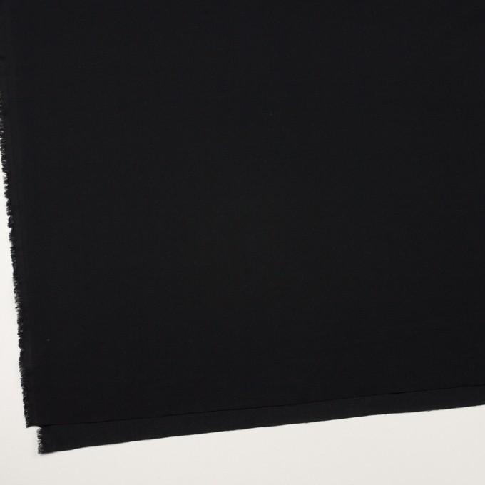 コットン×無地(ブラック)×ジョーゼット_全5色 イメージ2