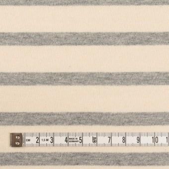 コットン×ボーダー(エクリュ&ライトグレー)×天竺ニット_全4色 サムネイル4