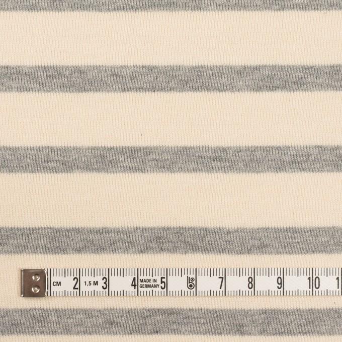 コットン×ボーダー(エクリュ&ライトグレー)×天竺ニット_全4色 イメージ4