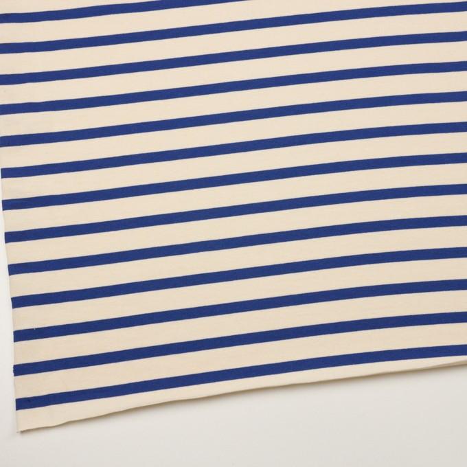 コットン×ボーダー(エクリュ&ブルー)×天竺ニット_全4色 イメージ2