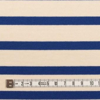コットン×ボーダー(エクリュ&ブルー)×天竺ニット_全4色 サムネイル4