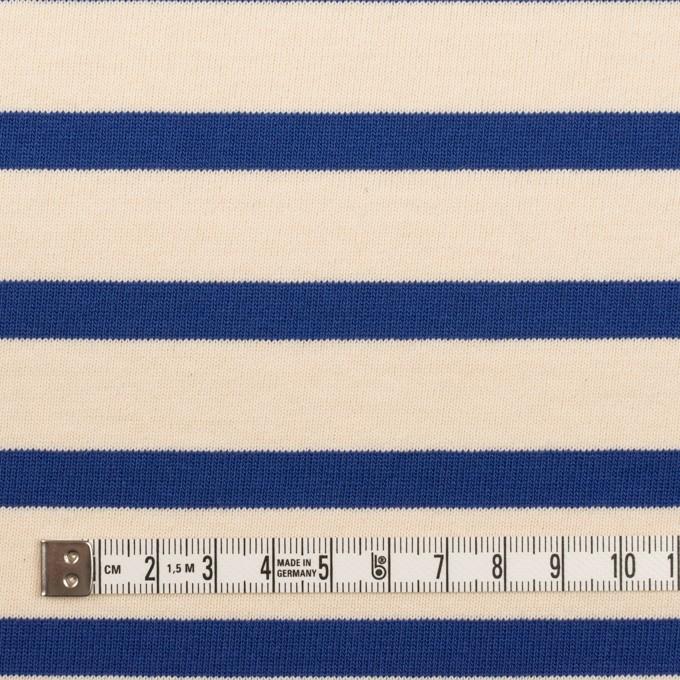 コットン×ボーダー(エクリュ&ブルー)×天竺ニット_全4色 イメージ4