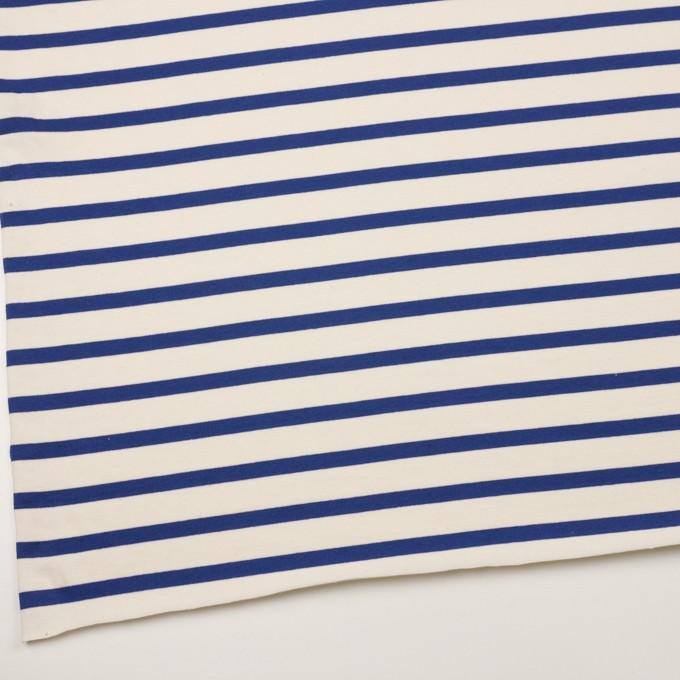 コットン×ボーダー(バニラ&ブルー)×天竺ニット_全4色 イメージ2