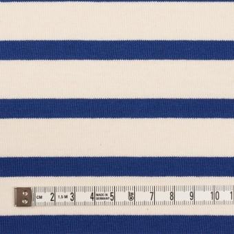 コットン×ボーダー(バニラ&ブルー)×天竺ニット_全4色 サムネイル4