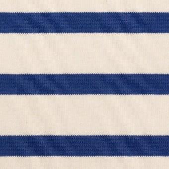コットン×ボーダー(バニラ&ブルー)×天竺ニット_全4色