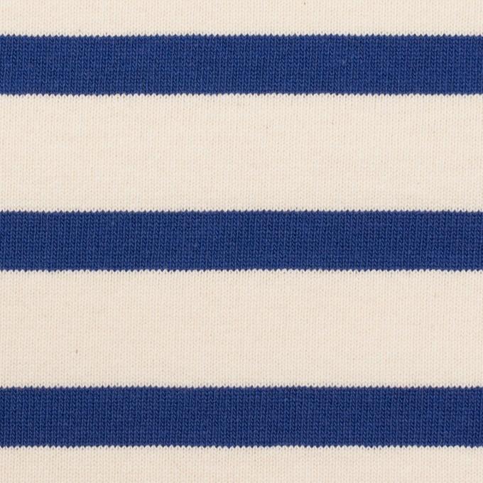 コットン×ボーダー(バニラ&ブルー)×天竺ニット_全4色 イメージ1