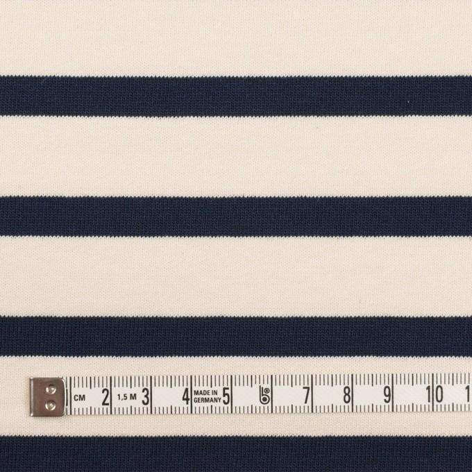 コットン×ボーダー(バニラ&ダークネイビー)×天竺ニット_全4色 イメージ4