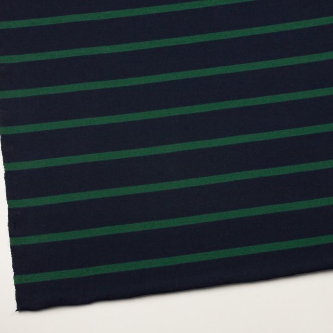 コットン×ボーダー(ダークネイビー&モスグリーン)×天竺ニット イメージ2