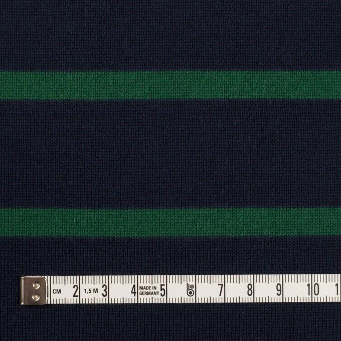 コットン×ボーダー(ダークネイビー&モスグリーン)×天竺ニット イメージ4