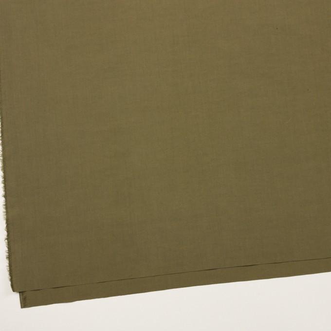 コットン×無地(カーキグリーン)×タイプライター(高密ローン)・ワッシャー_全2色 イメージ2