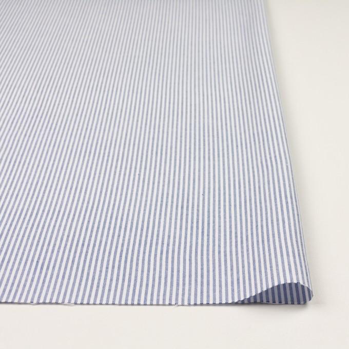 コットン×ストライプ(ブルー)×オックスフォード イメージ3