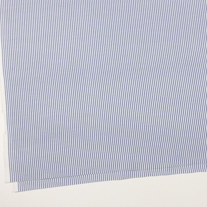 コットン×ストライプ(ブルー)×薄オックスフォード イメージ2