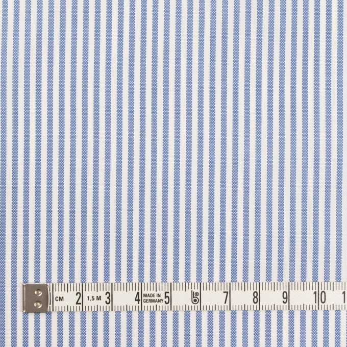 コットン×ストライプ(ブルー)×薄オックスフォード イメージ4