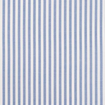 コットン×ストライプ(ブルー)×薄オックスフォード サムネイル1