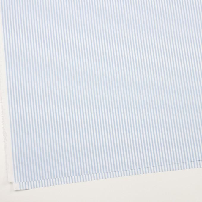 コットン&ポリエステル×ストライプ(サックス)×薄オックスフォード_全2色 イメージ2