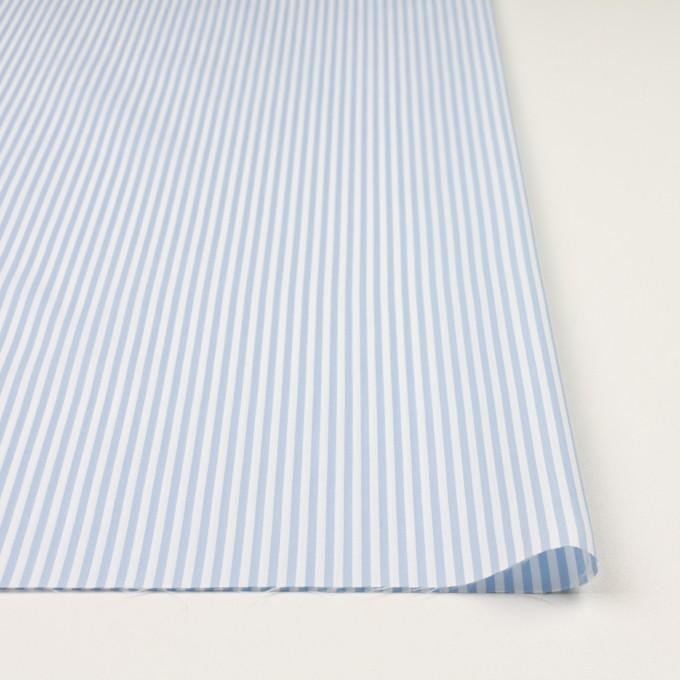 コットン&ポリエステル×ストライプ(サックス)×薄オックスフォード_全2色 イメージ3