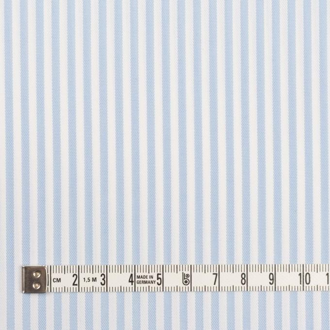 コットン&ポリエステル×ストライプ(サックス)×薄オックスフォード_全2色 イメージ4