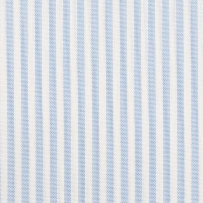 コットン&ポリエステル×ストライプ(サックス)×薄オックスフォード_全2色 イメージ1