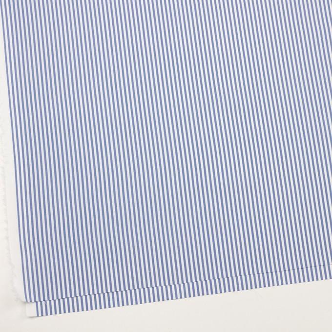 コットン&ポリエステル×ストライプ(ブルー)×薄オックスフォード_全2色 イメージ2