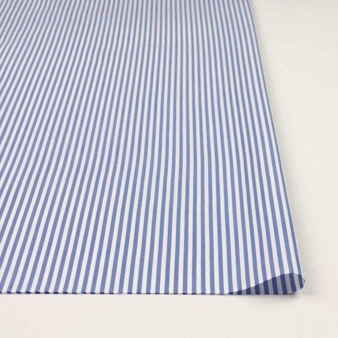 コットン&ポリエステル×ストライプ(ブルー)×薄オックスフォード_全2色 イメージ3