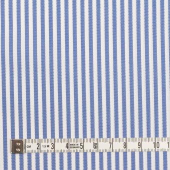 コットン&ポリエステル×ストライプ(ブルー)×薄オックスフォード_全2色 サムネイル4