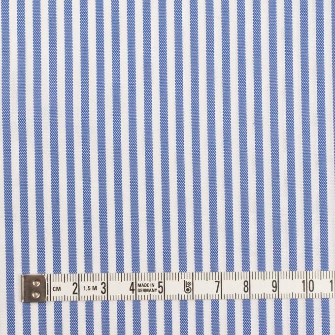 コットン&ポリエステル×ストライプ(ブルー)×薄オックスフォード_全2色 イメージ4
