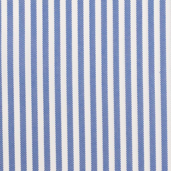 コットン&ポリエステル×ストライプ(ブルー)×薄オックスフォード_全2色 イメージ1