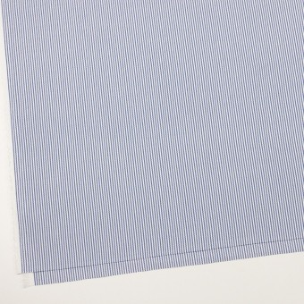 コットン×ストライプ(ブルー)×斜子織_全2色 サムネイル2
