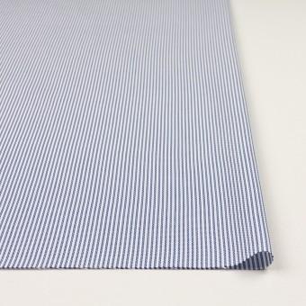 コットン×ストライプ(ブルー)×斜子織_全2色 サムネイル3