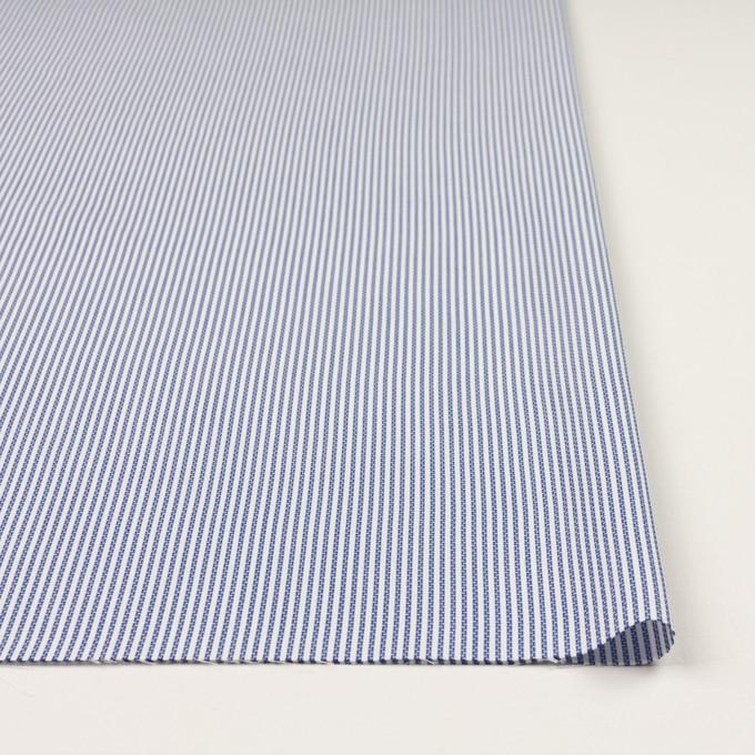 コットン×ストライプ(ブルー)×斜子織_全2色 イメージ3