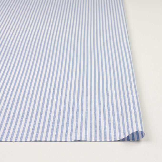 コットン×ストライプ(ヒヤシンスブルー)×斜子織_全2色 イメージ3
