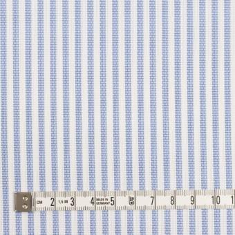 コットン×ストライプ(ヒヤシンスブルー)×斜子織_全2色 サムネイル4