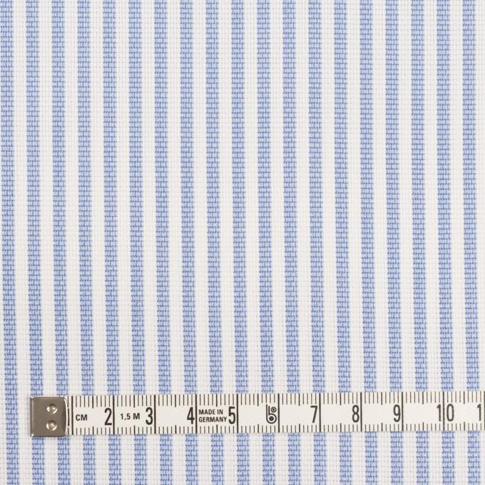 コットン×ストライプ(ヒヤシンスブルー)×斜子織_全2色 イメージ4
