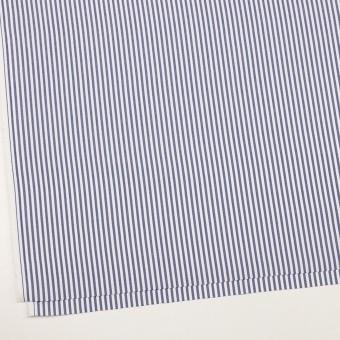 コットン×ストライプ(ネイビー)×斜子織_全2色 サムネイル2