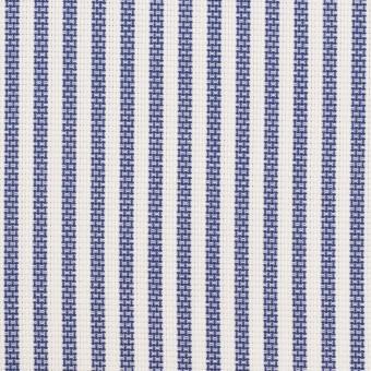 コットン×ストライプ(ネイビー)×斜子織_全2色 サムネイル1