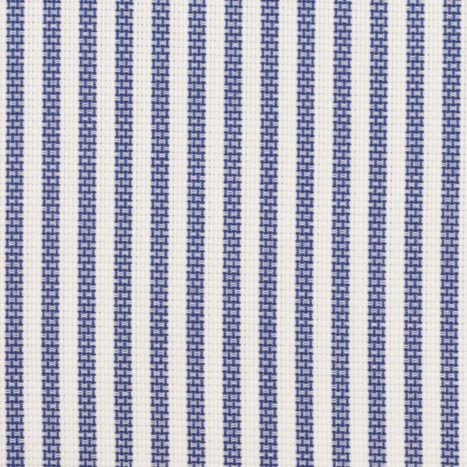 コットン×ストライプ(ネイビー)×斜子織_全2色 イメージ1