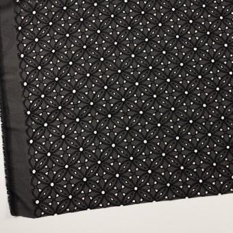 ポリエステル×フラワー(ブラック)×ジョーゼット刺繍 サムネイル2