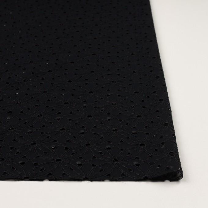 ポリエステル×フラワー(ブラック)×ジョーゼット刺繍 イメージ3