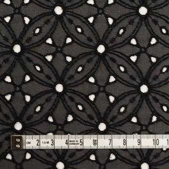 ポリエステル×フラワー(ブラック)×ジョーゼット刺繍 サムネイル4