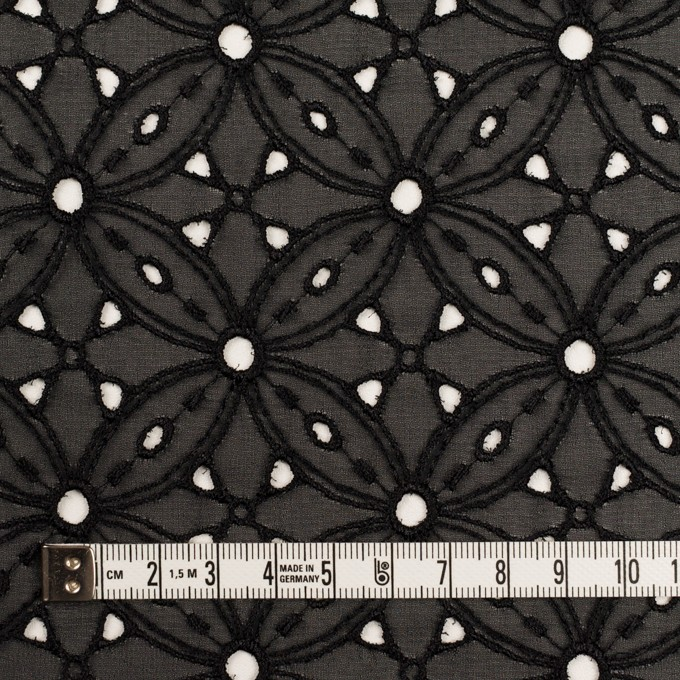 ポリエステル×フラワー(ブラック)×ジョーゼット刺繍 イメージ4