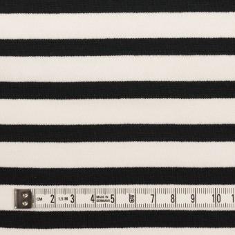 コットン×ボーダー(オフホワイト&ブラック)×天竺ニット サムネイル4