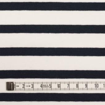 コットン&ポリウレタン×ボーダー(ホワイト&ブラック)×天竺ニット サムネイル4