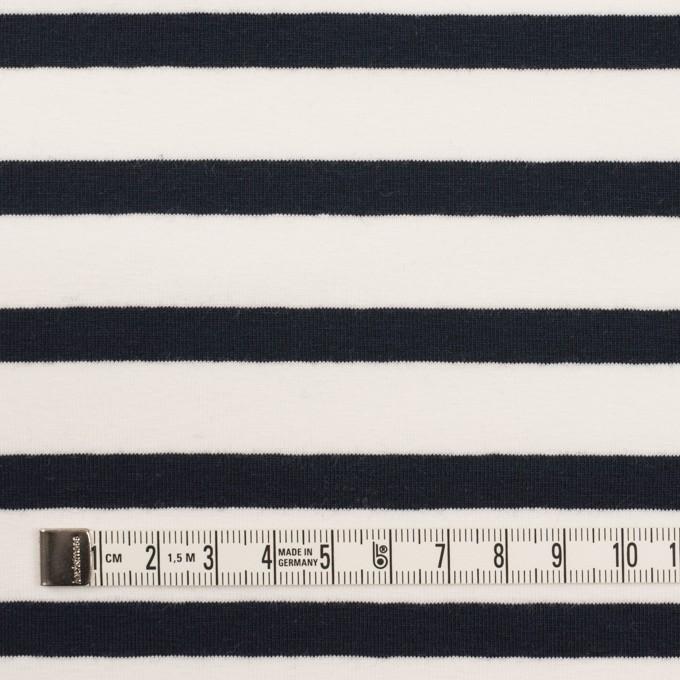 コットン&ポリウレタン×ボーダー(ホワイト&ブラック)×天竺ニット イメージ4