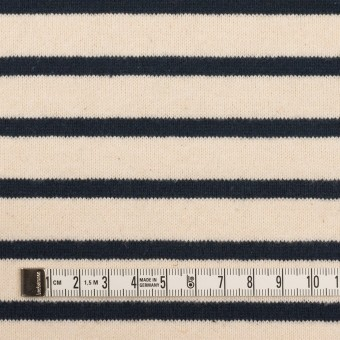 コットン×ボーダー(エクリュ&ブラック)×天竺ニット サムネイル4