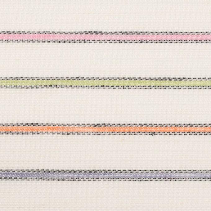 コットン×ボーダー(マルチ)×かわり織 イメージ1